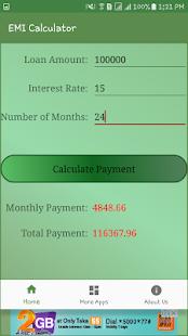 EMI Loan Calculator - náhled