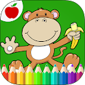 Jungle Animals Coloring Book icon
