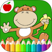 Jungle Animals Coloring Book