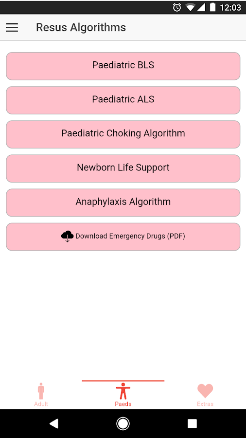 Resus Algorithms 2- screenshot