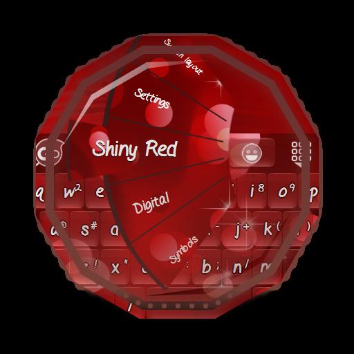 閃亮的紅色 GO Keyboard 個人化 App LOGO-硬是要APP
