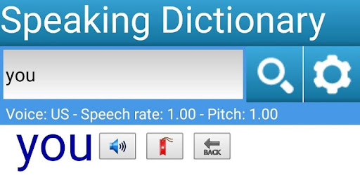 Speaking Dictionary speaks all sentences in explanation and example.