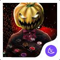 Red Scary Pumpkin Halloween theme🎃 icon