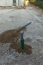 Photo: Conduite de livraison fuel (Visite de chantier 2 Oct. 2014)