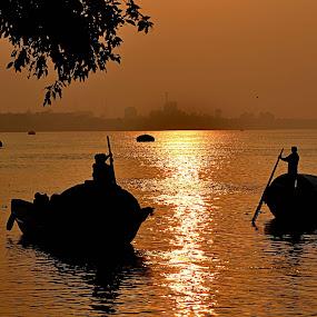 by Jit Rakshit - Transportation Boats