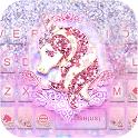 Glitter Unicorn Keyboard Theme icon
