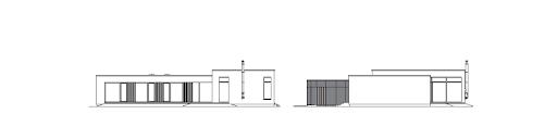 Parterowy 1 - Elewacja tylna i boczna