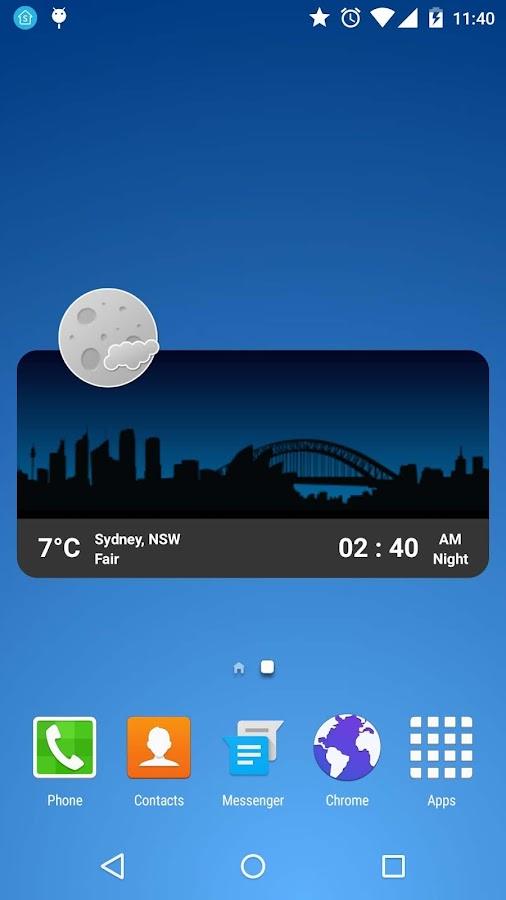 Metro Clock Widget- screenshot