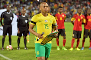 Andile Jali during the International friendly match between South Africa and Angola at Buffalo City Stadium on March 28, 2017 in East London, South Africa.