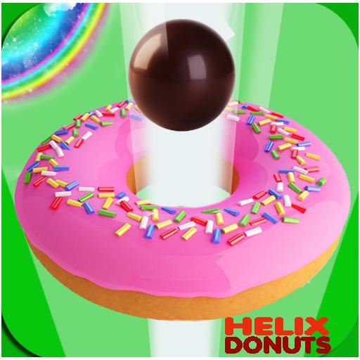 Hopping Donuts Ball 3D 🍩