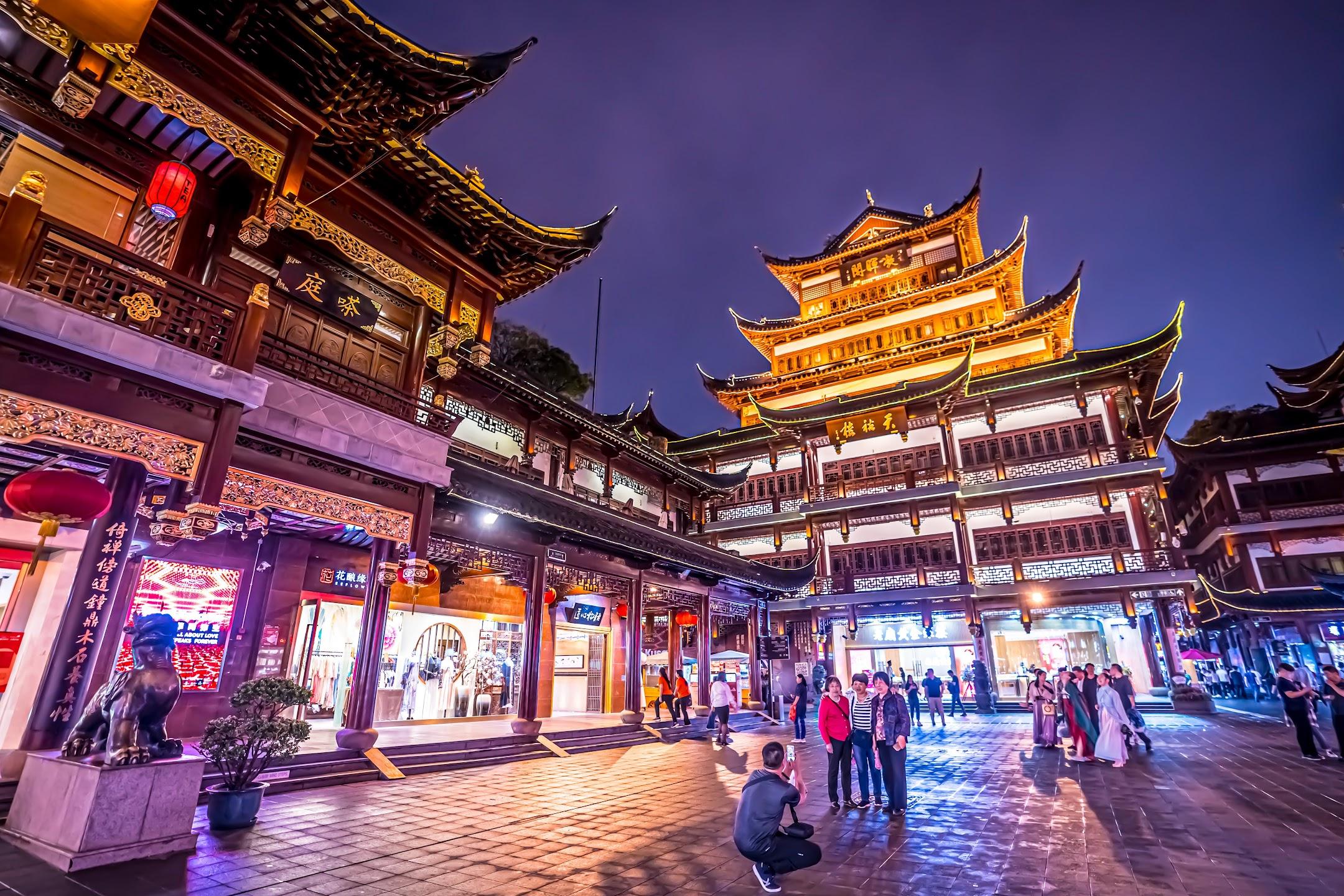 上海 豫園 ライトアップ3