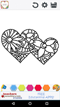 Adult Coloring: Valentines Day - screenshot thumbnail 04