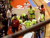 Gerben Thijssen kwam zwaar ten val in de zesdaagse van Gent