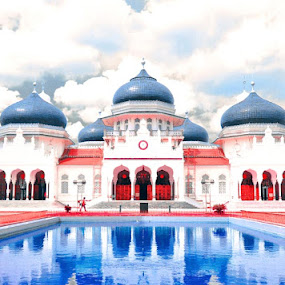 Baiturahman by Irfan Maulana - Buildings & Architecture Places of Worship ( reflection, mesjid, bandaaceh )