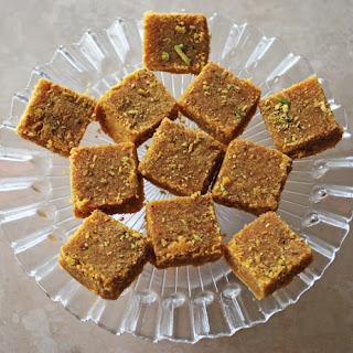 Besan Barfi (Gram Flour Sweet).
