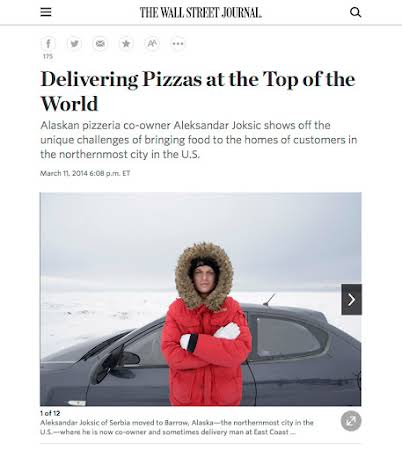 Pizza in Barrow Alaska for the Wall Street Journal