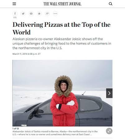 Pizza in Barrow Alaska for the Wall Street Journal