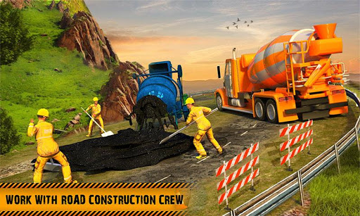 Hill Road Construction Games: Dumper Truck Driving apkpoly screenshots 1