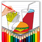 Coloring Food Pages - Macdonalds icon