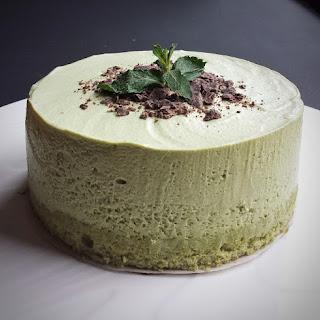 Matcha (Green Tea) Mousse.