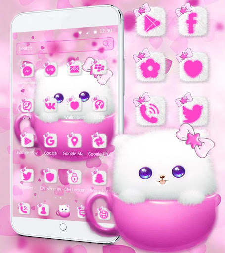 Kitty Theme Cup Cat Wallpaper Apk 2