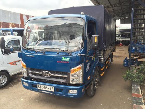 Với 75 triệu có thể mua xe tải veam 2 tấn, xe tải veam VT200 động cơ hyundai, nhập khẩu mới vào TP.
