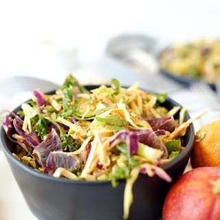 Cabbage Salad with Creamy Cashew Dressing.