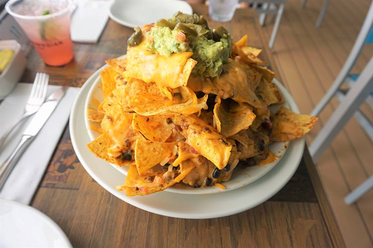 Volcano nachos at Margaritaville at Sea: not for the timid or the calorie-conscious.