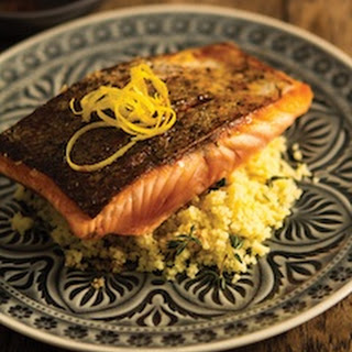 Roasted Salmon with Lemon & Thyme Couscous.