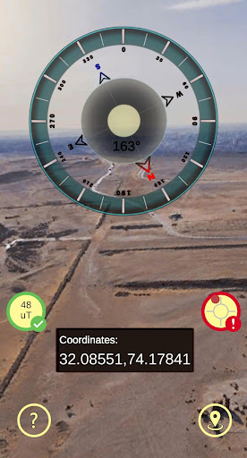 Gyro Compass 3D True North Finder with GPS Maps screenshot 12