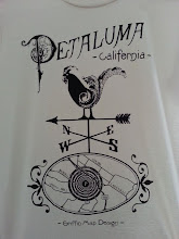 Photo: Petaluma Shirts! For Sale! Natural/Black, Blue/Gold, and Dijon/Copper. All printed on American Apparel Organic 100% Cotton.