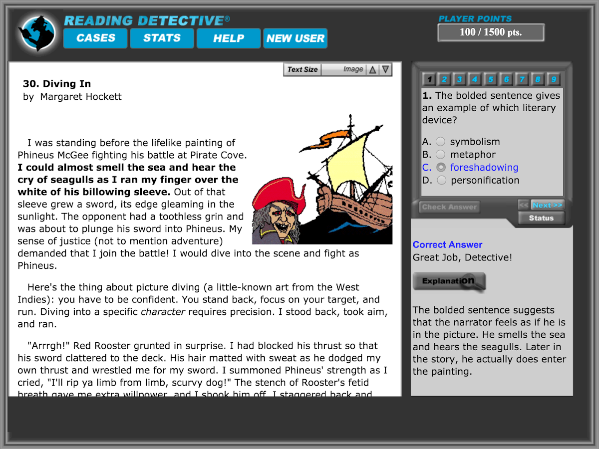 Reading Detective® B1- screenshot