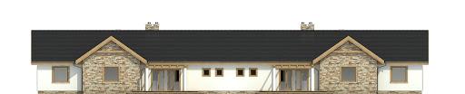 Raniuszek z garażem 1-st. bliźniak A-BL1 na paliwo stałe - Elewacja tylna