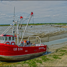 Tides Out by Brian Rogers - Transportation Boats ( landscapes waterscapes, tidal river, hdr, boats, rivers )