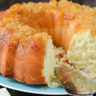Pineapple Coconut Bundt Cake.