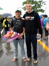 Photo: With Kieren Doe in South Korea, Asian Long Distance Championships...he won the day, hence the flowers