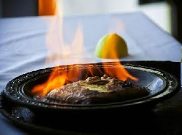 Saganaki  (Flaming Greek Cheese)  Oompa! Dangerous and Delicious!
