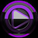 Poweramp skin Black Purple icon