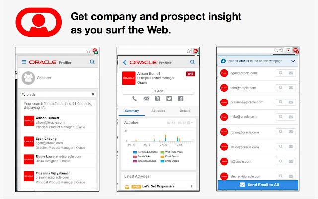Oracle Eloqua Sales Tools