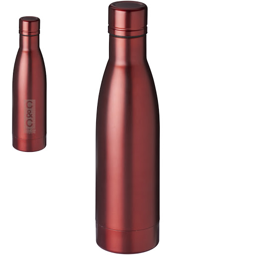 Steel Vacuum Bottle copper lined in Rose Gold