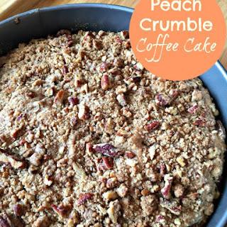 Peach Crumble Coffee Cake