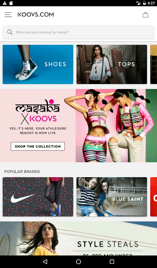 KOOVS - ONLINE SHOPPING APP- screenshot