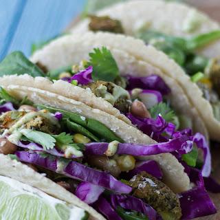 Tex-Mex Tacos with Avocado Cream Sauce.
