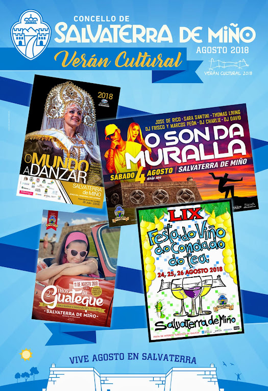 cartel fiestas Salvaterra de Miño 2018