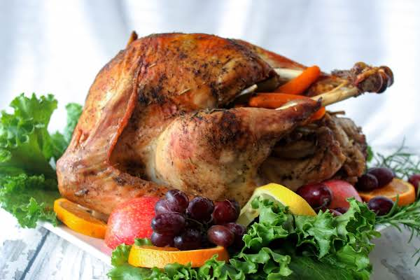 Herb Roasted Turkey Cooked In Oven Cooking Bag