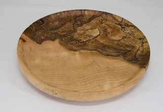 "Photo: Richard Webster 9"" x  1 1/2"" platter [Beech]"