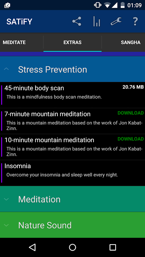 SATiFY Mindfulness Meditation- screenshot