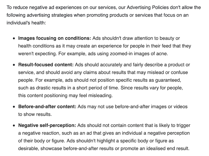 Fitness Advertising - Facebook Ad Restrictions for Fitness Ads