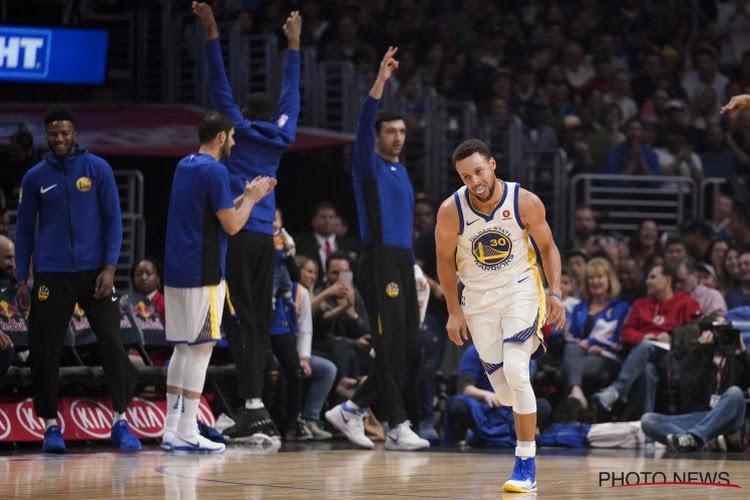 Steph Curry blijft schitteren bij afwezigheid Durant: Warriors geven de doodsteek in verlenging