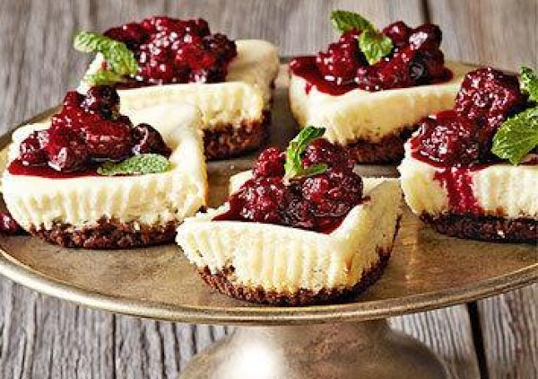 Mini Berry Goat Cheese Cakes Recipe